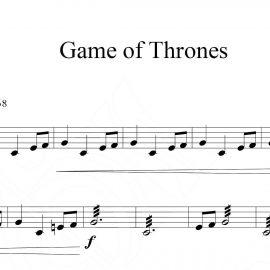 نت آهنگ game of thrones برای سنتور